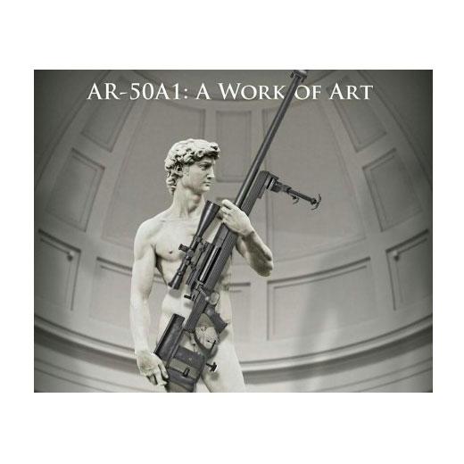 David di Michelangelo testimonial non pagato di un fucile americano