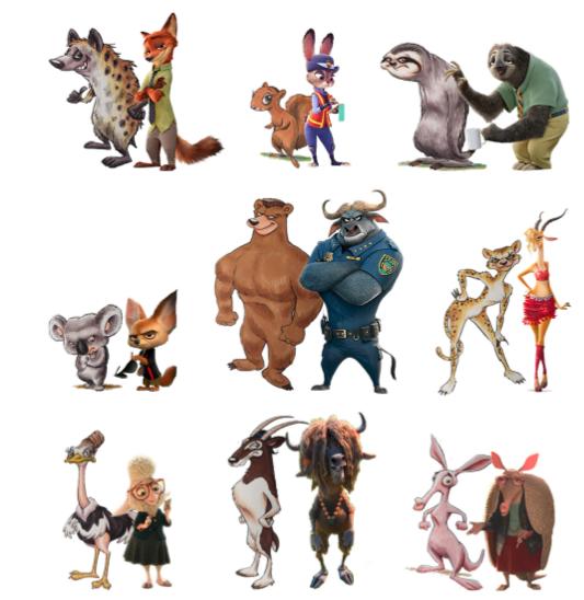 Copyright dei personaggi di un film di animazione