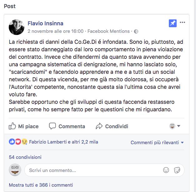 Fabio Insinna e il diritto di immagine