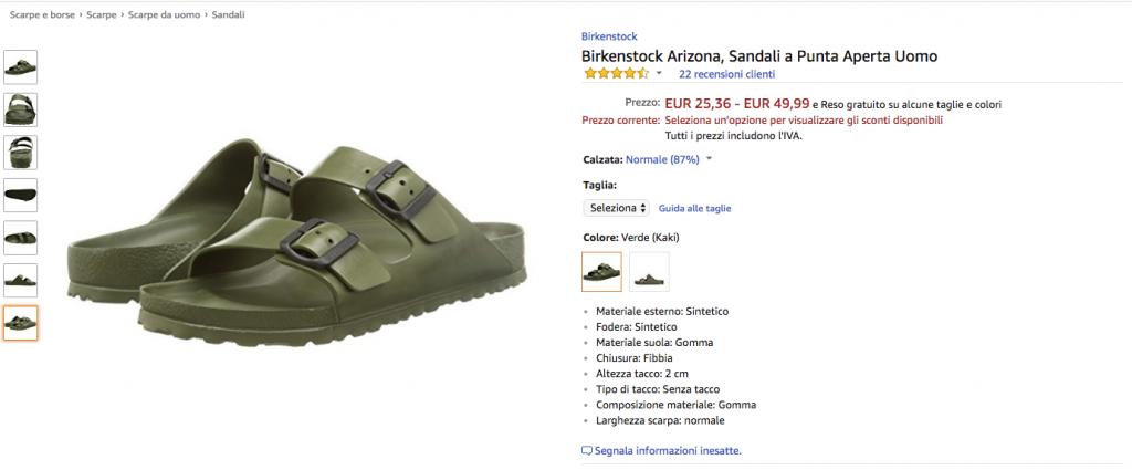 Birkenstock offerte Amazon: il marchio tedesco abbandona la piattaforma
