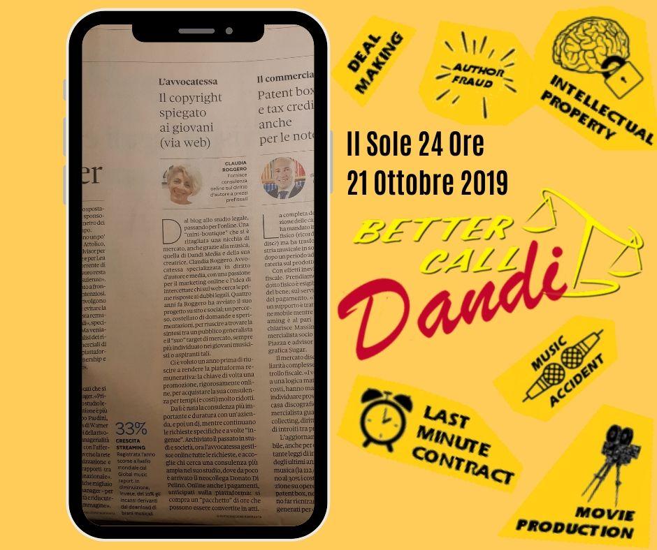 Il Sole 24 Ore - 21 Ottobre 2019