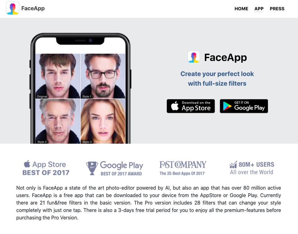 FaceApp ruba i dati? Quali sono i rischi per la privacy